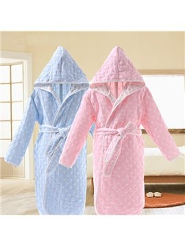 Cute Polka Dot Pattern Kids 100% Cotton Bath Robe