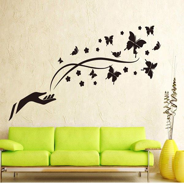 Wonderful Magic Black Butterflies Removable Wall Sticker