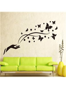 Wonderful Magic Black Butterflies Removable Wall Sticker