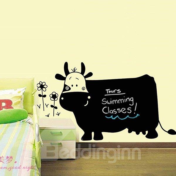 Creative Cow Design Writing Blackboard Nursery Kidsroom Wall Sticker