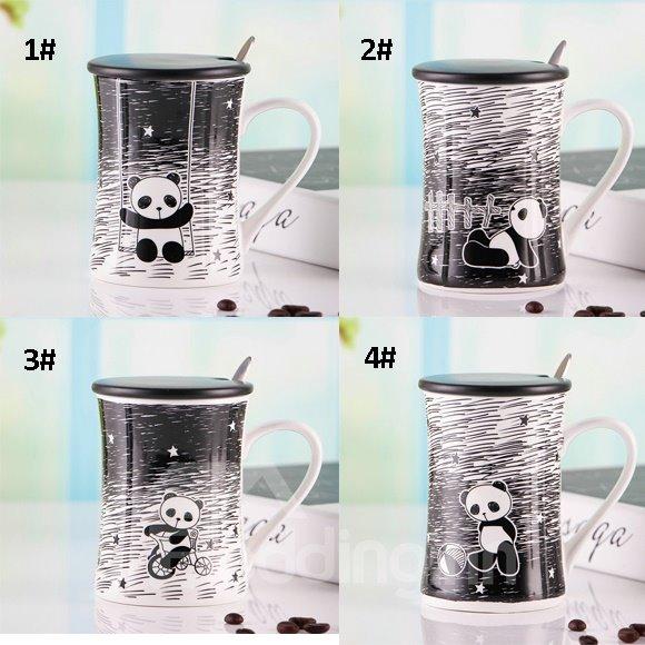 Adorable Panda Pattern Ceramic Coffee Mug
