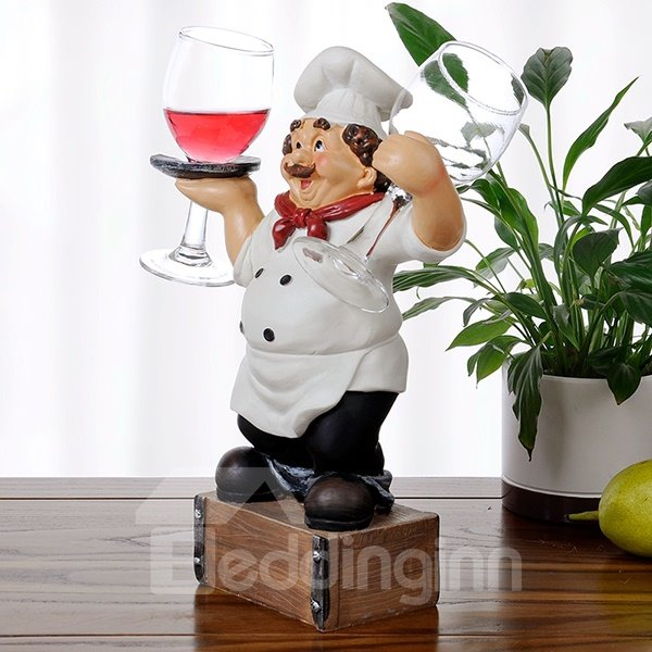 Creative Resin Chef Design Glass Holders