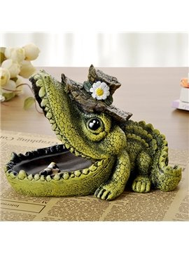 Wonderful Vivid Crocodile Design Resin Ashtray Desktop Decoration