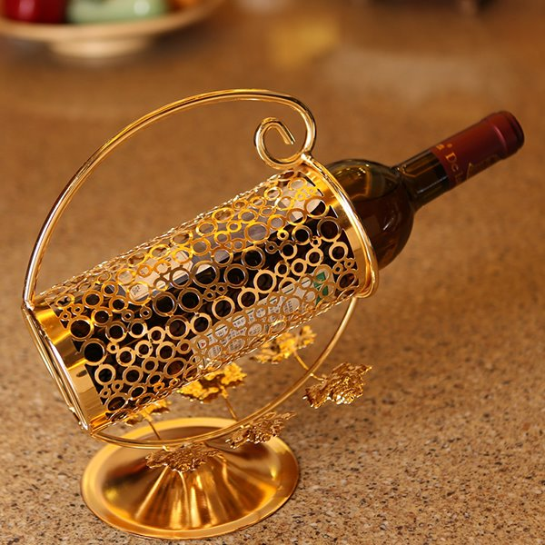Creative Stainless Steel Hollow Cut Design Wine Holder