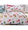 Cute Kitchen Theme Kids Cotton Duvet Cover Sets