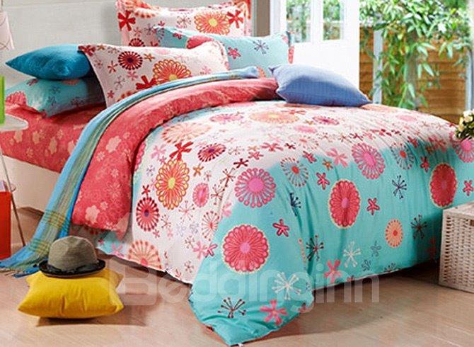 Memories of Elegance Floral Pattern Kids Cotton Duvet Cover Sets