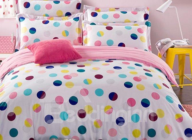 Pure World Polka Dot Pattern Kids Cotton Duvet Cover Sets