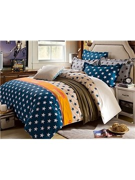 Bouncy Stars Pattern Kids 100% Cotton Duvet Cover Set