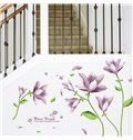Gorgeous Chic Purple Flowers Removable Wall Sticker