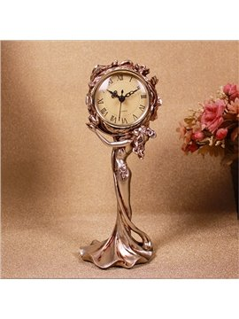 Gorgeous Chic Lady Design Resin Desktop Clock