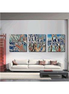 Modern Abstract Tree 3-Panel Canvas Wall Art Prints