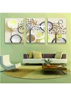 Modern Abstract Trees 3-Panel Canvas Wall Art Prints
