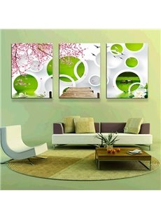 Modern Abstract Art 3-Panel Canvas Wall Art Prints