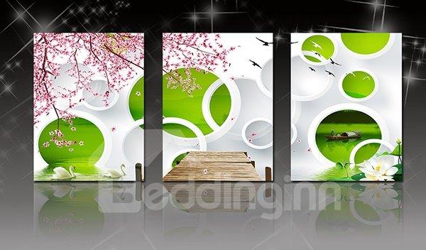 Modern Abstract Art 3-Panel Canvas Wall Art Prints