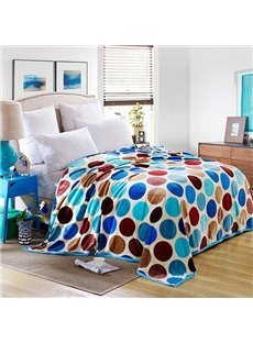 Lovely Colorful Polka Dots Printed Bed Blanket