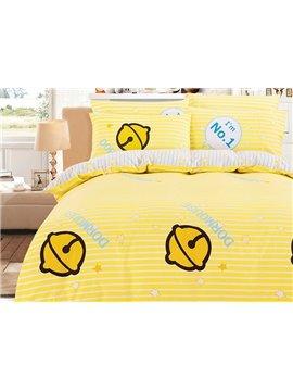 Bright Yellow Bells Pattern Kids 100% Cotton Duvet Cover Sets