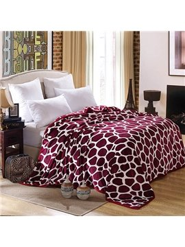 Red Irregular Figure Printed Soft Bed Blanket