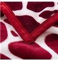 Red Irregular Figure Printed Soft Bed Blanket