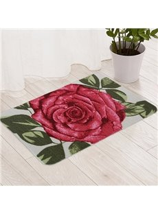 Romantic 3D Rose Pattern Anti-Slipping Doormat