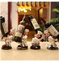 Wonderful Cute Chef Carrying Resin Wine Rack