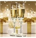 Exquisite Enamel Tall Champagne Wine Glasses 1-Pair