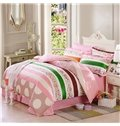 Tiny Flowers Pattern 100% Cotton Girls 4-Piece Duvet Cover Sets