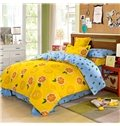 City of Oranges Refreshing Kids Cotton 4-Piece Duvet Cover Sets