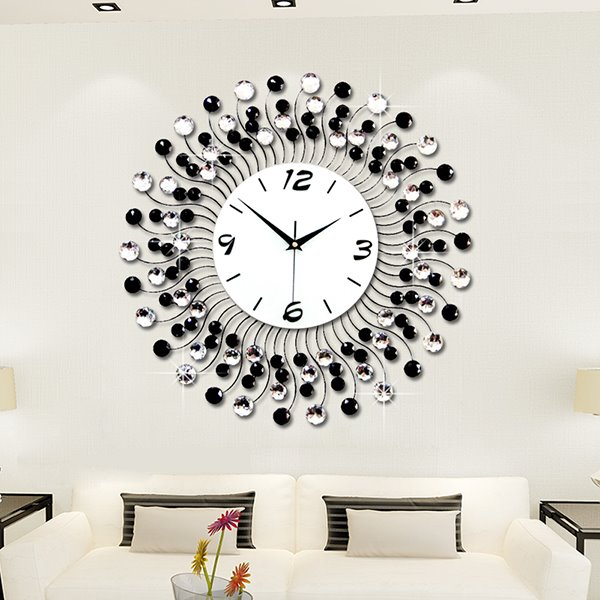Modern classic living room diamond decorative wall clock for Living room wall clocks