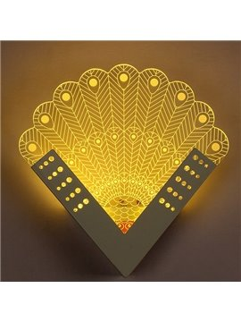 Fantastic Creative Peacock Design Nursery Kidsroom LED Wall Light