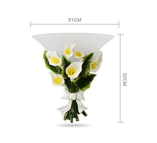 Gorgeous Calla Bouquet Design Wall Light