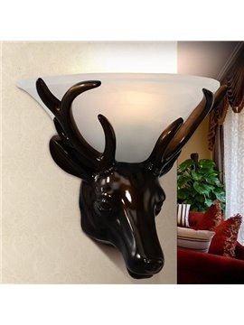 Unique Vintage Deer Head Design Hallway Wall Light