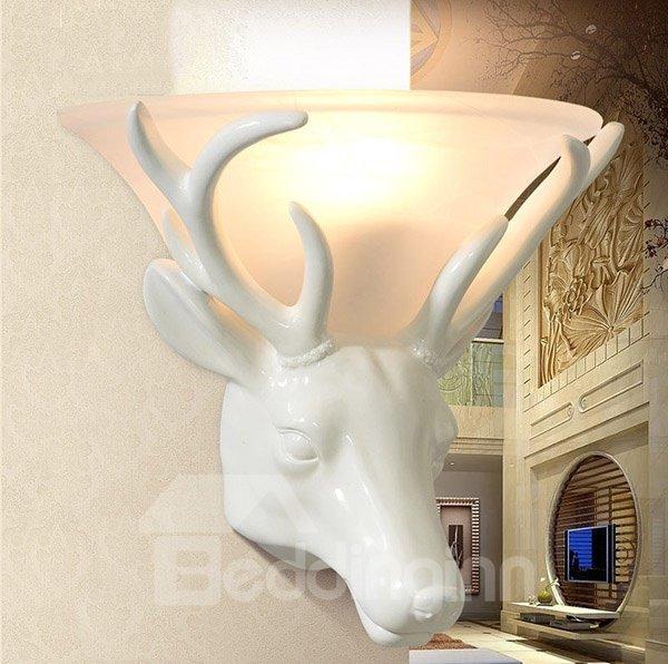 Unique Vintage Deer Head Design Hallway Wall Light
