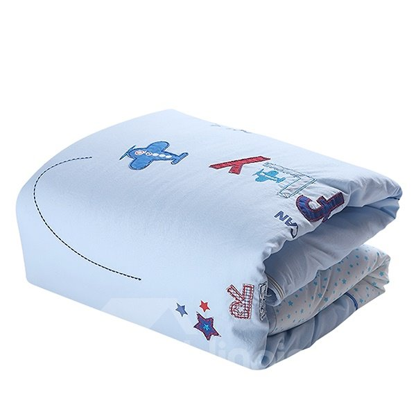 Good Boy Planes Embroidery 5-Piece Baby Crib Bedding Sets