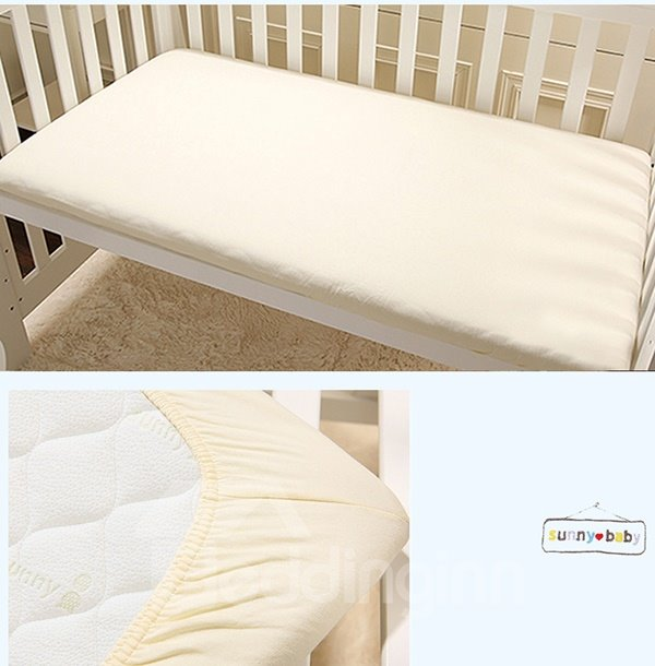 Lovely Elephant and Trees Pattern 100% Natural Organic Cotton Crib Bedding Set