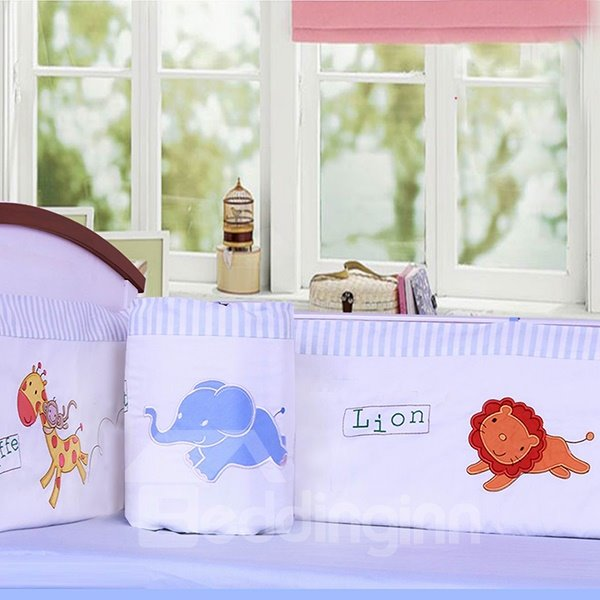 Jungle Adventure Cotton 6-Piece Crib Bedding Set