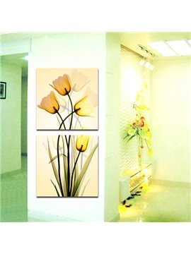 Wonderful Flowers Hallway 2-Panel Canvas Wall Art Prints