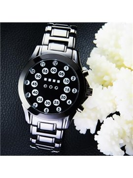 Men's Creative Roll Ball LED Display Watch