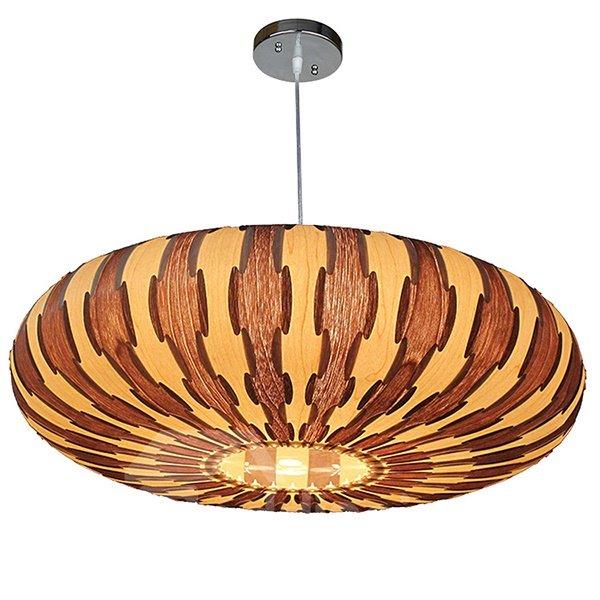 Wonderful Decorative Pattern Wood Pendant Light