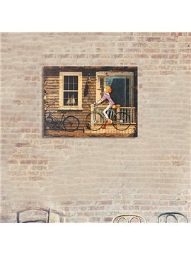 European Style Iron Artwork 3D Bike Wall Art Print