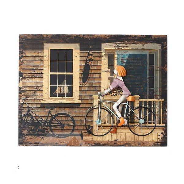 European Style Iron Artwork 3D Bike Wall Art Print