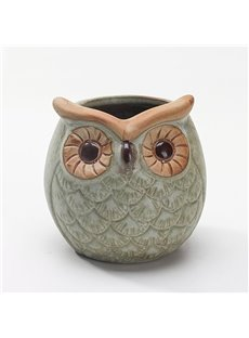 Wonderful Ceramic Owl Design Flower Pot
