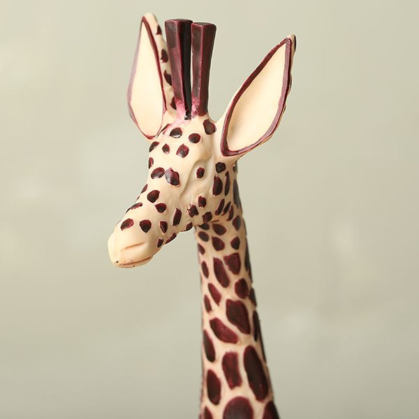 Unique Resin Giraffe Design Base Glass Flower Pot/Fish Bowl