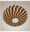 Fabulous Lantern Design Strips Pattern Wooden Pendant Light