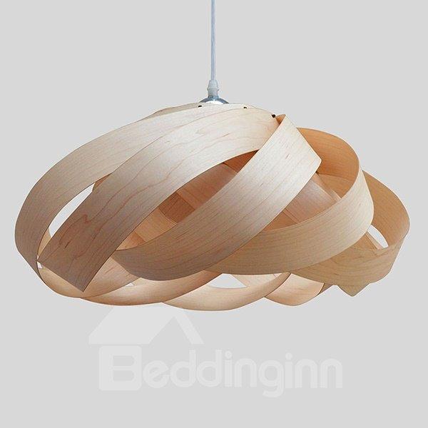 Fantastic Flower Design Wooden Pendant Light