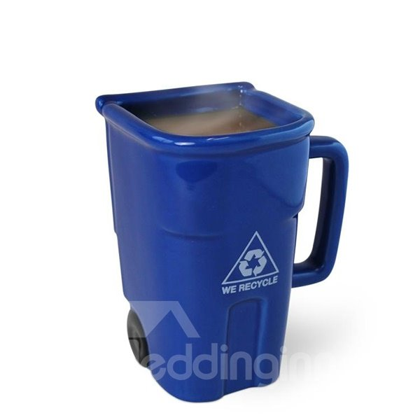 Creative Trash Can Design Ceramic Coffee Mug