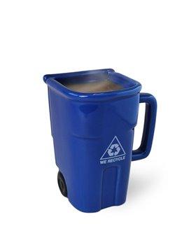 Creative Trash Can Design Ceramic Coffee Mug