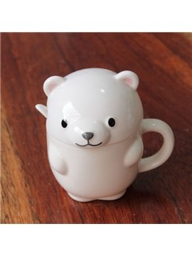 Adorable Little Bear Design Ceramic Coffee Mug