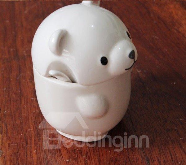 Adorable Little Bear Design Ceramic Coffee Mug