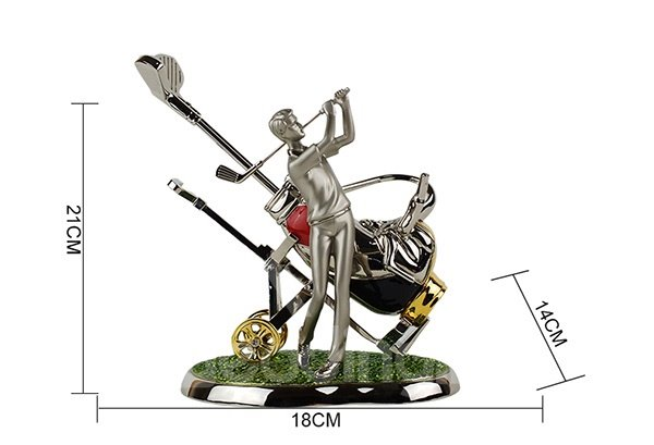 European Creative Playing Golf Wine Rack