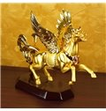 Fabulous Golden-Plated Flying Horse Wine Rack